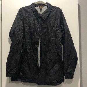 Lined windbreaker jacket